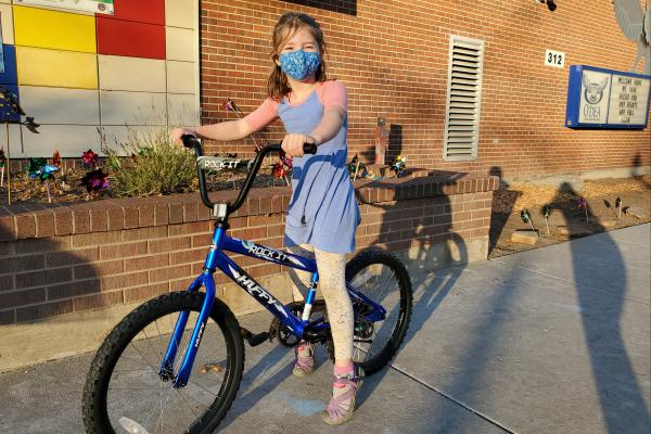 second grade receives free bikes and helmets