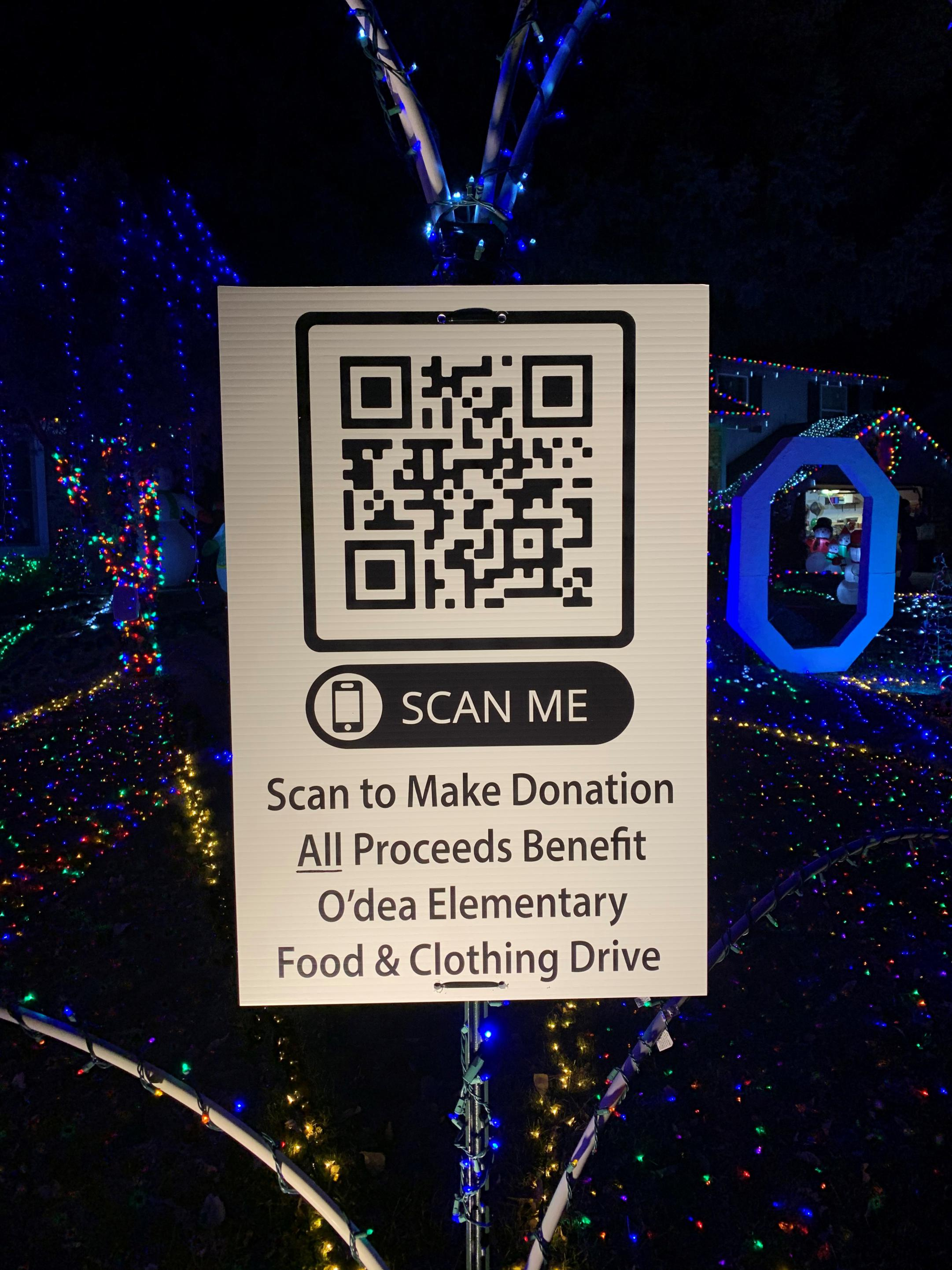 QR Code Holiday Light Display Ouray Court